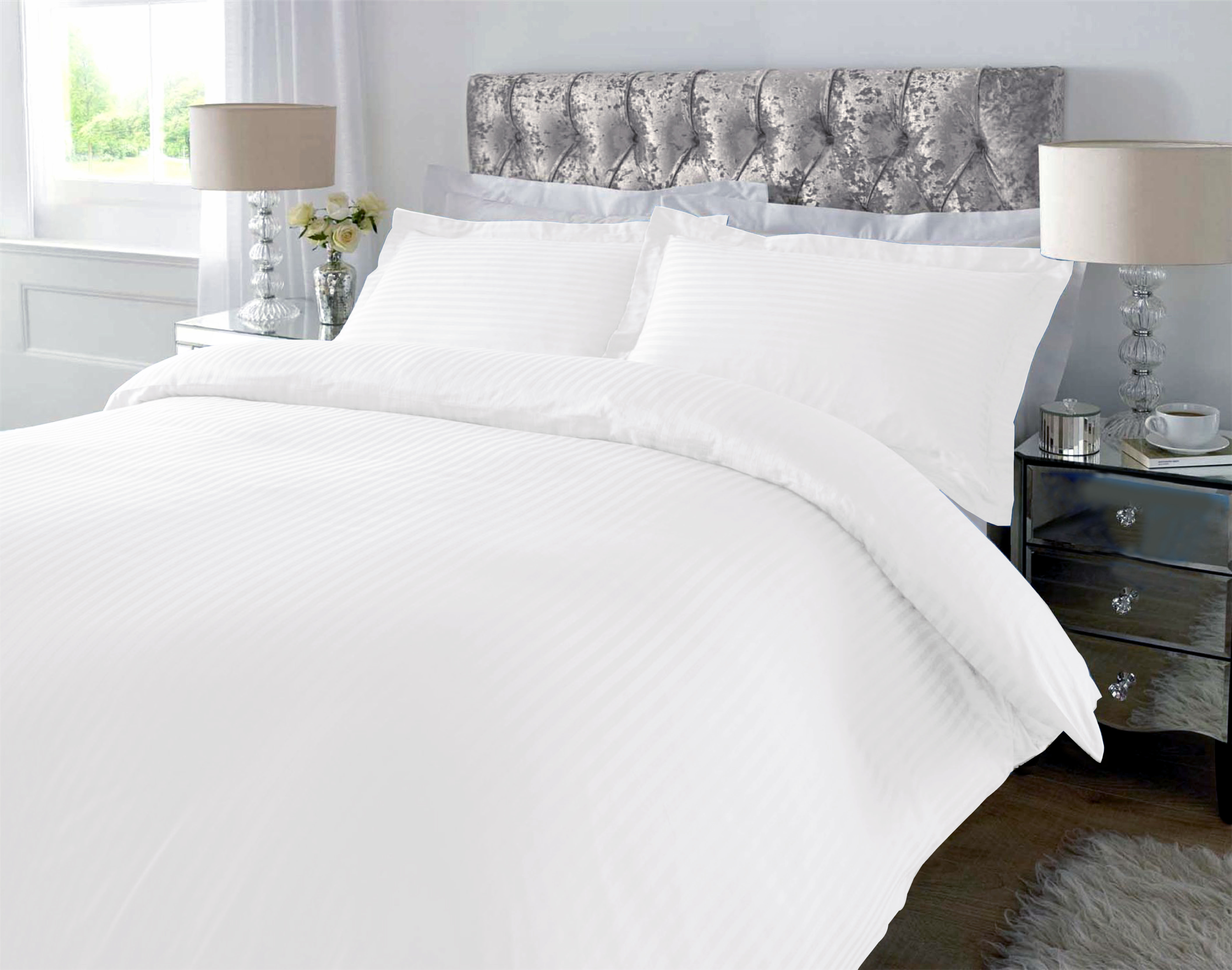 Double Duvet Cover With 2 Pillow Covers White
