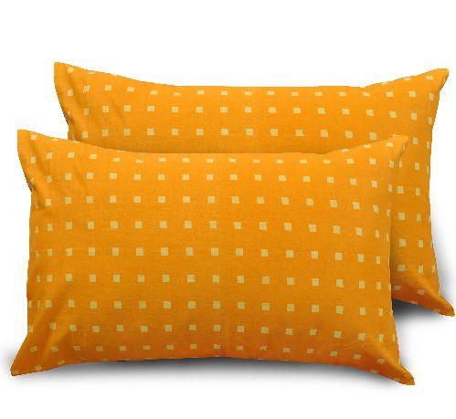 Dotted Cotton 2 pcs Pillow Covers - Orange