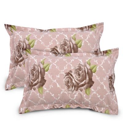 Floral Cotton 2 pcs Pillow Covers - Beige