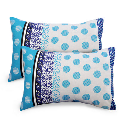 Abstract Cotton 2 pcs Pillow Covers - Blue